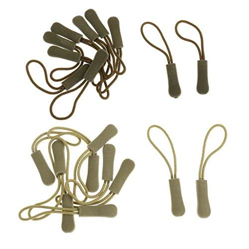 MagiDeal 20pcs Zipper Antidérapant Cordes de Tirette Zip Extracteurs Pèce de Remplacement Sac à Dos