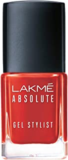 Lakmé Absolute Gel Stylist Nail Color, Tomato Tango, 12 ml