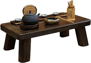 Mesa de Centro Mesa de Tatami Japonesa Madera Maciza Mesa de té pequeña China Mesa Baja Ventana de la bahía (Color : Brown...
