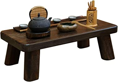 Coffee Table Japanese Tatami Table Solid Wood Chinese Small Tea Table Low Table Bay Window Table Tables (Color : Brown, Size