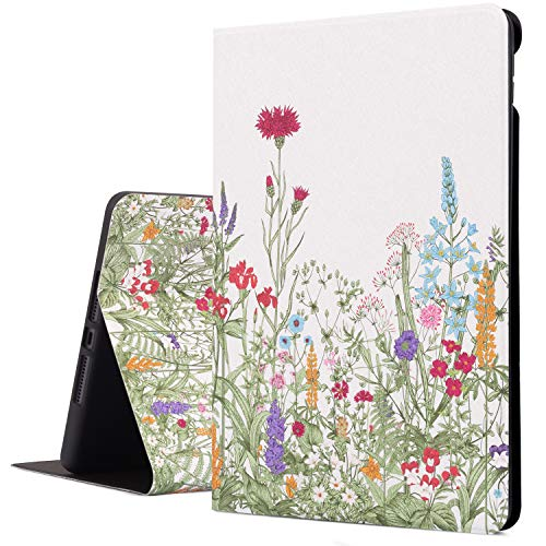 Cutebricase iPad 8th Generation Case, iPad 7th Generation Case, iPad 10.2 Case 2019 Protective Cover, Multi-Angle Viewing Case with Adjustable Stand Auto Wake/Sleep Function (Flowers)
