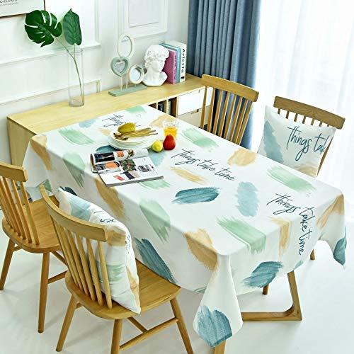 XXDD Mantel Lavable a Prueba de Polvo Moderno Simple de Estilo escandinavo Mesa de Comedor Cubierta de Escritorio de Hotel cafetería Restaurante A2 150x210cm