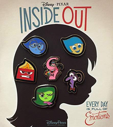 Disney Pixar Inside Out 6 Pin Starter Set Sadness Fear Anger Disgust Joy Bing Bong
