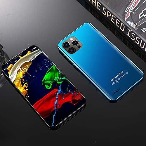 Unlocked Smartphones, Dual sim Unlocked Cell Phones for Seniors, Mini12 4 inch 3-Camera Android 4GB ROM, High-Definition Full Screen, 2200mAh high Capacity Battery (Blue)