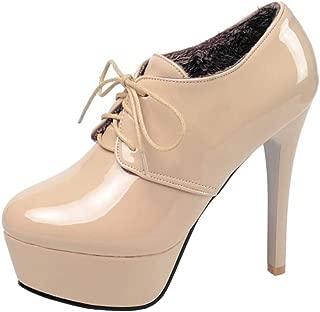 TAOFFEN Women Sexy Stiletto Heel Ankle Booties