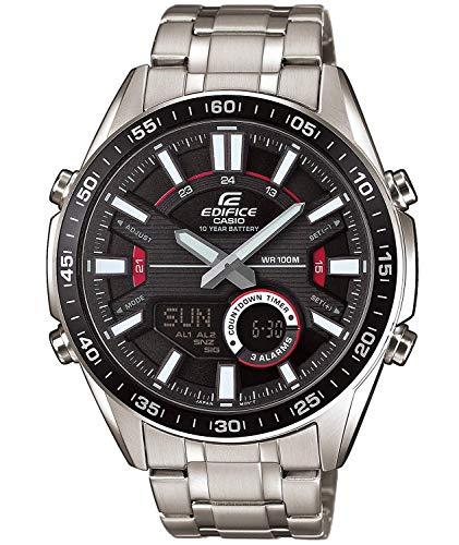 Casio Edifice Herren Massives Edelstahlgehäuse und Edelstahlarmband Uhrenarmband EFV-C100D-1AVEF