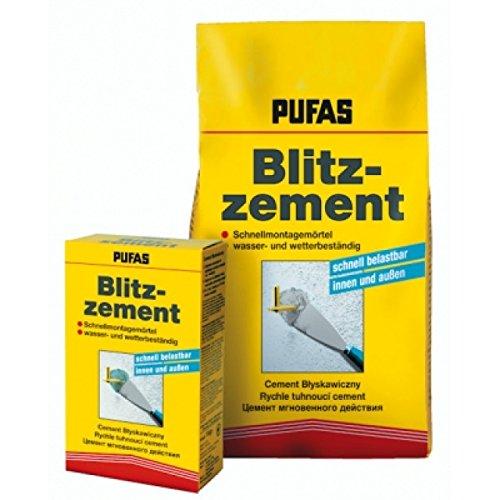 Pufas Blitzzement Schnellmontagemörtel 5kg Blitz-Zement Schnell-Reparatur-Mörtel