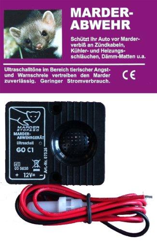 Marder Abwehr Marderschreck Ultraschall,12V 18mA ca.94dB