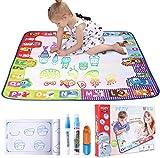 PEDY Magic Doodle Malmatte 78x78cm Wasser Zeichnen Matte Drawing Painting Mat Set umweltfreundlich für Kinder ab 3Jahre Alt -