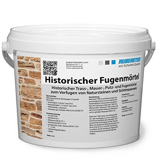 Ruberstein® Historischer Fugenmörtel natur im 2 kg Eimer