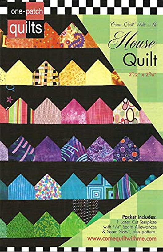 Come Quilt with Me Template - House Quilt 2 1/2