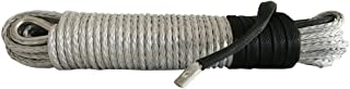 Silver 5/16inch 94ft Synthetic Winch Rope for ATV SUV Jeep Truck 6000lb 8000lb 8500lb 9000lb electric winch