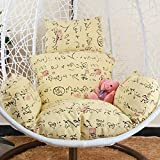 SXFYWYM Hanging Rattan Chair Cushion Swing Seat Cushions Thick Round Wicker Rattan Hanging Egg Pad Single Removable(Non Inclus Chair),Color,56x51cm
