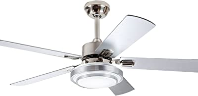 Harbor Breeze Sail Stream 52-in Brushed Nickel Flush Mount ... on