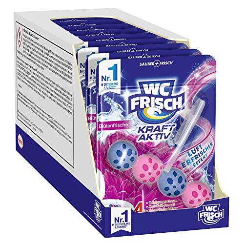 WC-Frisch Kraft Aktiv Duftspüler Blütenfrische, WC Reiniger, 10 Stück, mit Lufterfrischer Effekt für einen frischen Toilettenduft