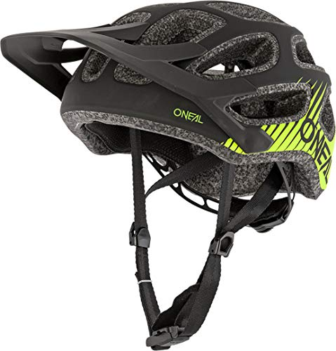 O'NEAL | Fahrradhelm Mountainbike | MTB Downhill Freeride | All-Mountain-/Enduro-Helm, einstellbare Passform | Thunderball Helmet Airy | Erwachsene | Schwarz Neongelb | Größe M/57-XL/61