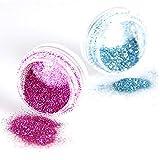 Nail Art Glitter Powder Para Mujeres, 30 Colores Nail Art Decor Glitter Dust Powder Set Para Bricolaje Acrílico UV Gel Tips Nail Professional Para Uñas Naturales 30 colores