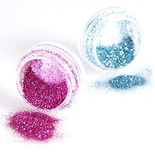 SAMENTHA Nail Art Glitter Powder Für Frauen, 30 Farben Nail Art Decor Glitter Dust Powder Set Für DIY Acryl UV Gel Tips Nail Professional Für Natürliche Nägel 30 Farben