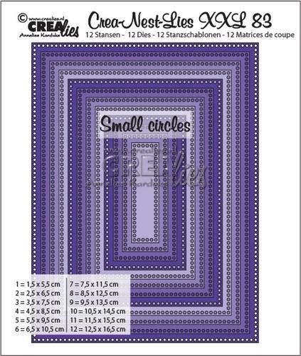 Unbekannt Stanz- und Prägeschablonen - XXL no. 83 Rechteck - kleine Löcher