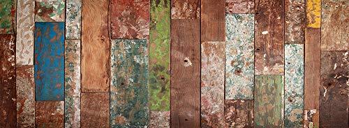 VINILIKO Industrial Wood Alfombra de Vinilo, Multicolor, 66x180