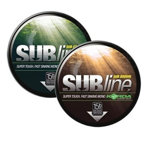 Korda SUBline Carp Monofilament 15lb Green by Fishing Republic