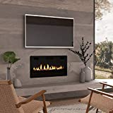 Finefind Electric Fireplace 36' Recessed 3.86' Ultra Thin Insert, Wall Mounted and in Wall Easy Installation with Remote Control, 750W/1500W, Low Noise (Fake Fire)