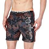 Superdry State Volley Swim Short Pantalones Cortos, Negro (Black Camo A15), S para Hombre