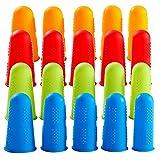Fingerschutz, 20 Stück Silikon Heißklebepistole, Fingerschutz, 4 Farben, Fingerschutz für Heißkleber, Nähen, Wachs, Kolophonium Harz, Honig, Klebstoff für Scrapbooking, Basteln, Bügeln, Stickerei
