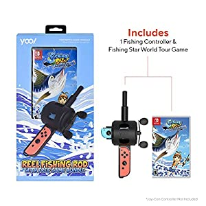 Reel Fishing Rod Bundle with Fishing Star World Tour for Nintendo Switch