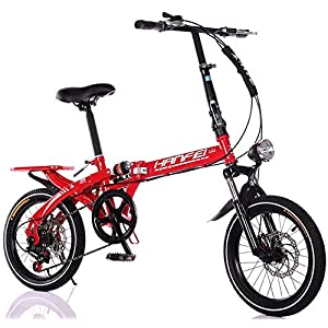 Folding Bikes Pkfinrd 16 Inch 20 Inch Folding Speed Mountain Bike – Adult Car Student Folding Car Men And Women Folding Speed Bicycle…
