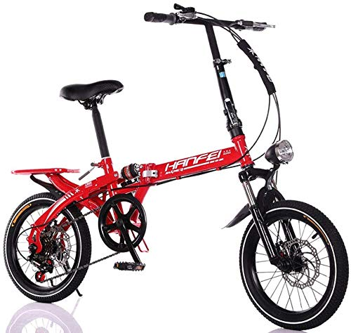 Folding Bikes Pkfinrd 16 Inch 20 Inch Folding Speed Mountain Bike – Adult Car Student Folding Car Men And Women Folding Speed Bicycle Damping Bicycle,Black,20inches [tag]