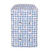 LIOOBO Funda para Lavadora Carga Superior Refrigerador Universal Cubierta Superior del Secador y Lavadora Automática Impermeable a Prueba de Polvo con Cremallera 54x54x82cm (patrón de Oso)