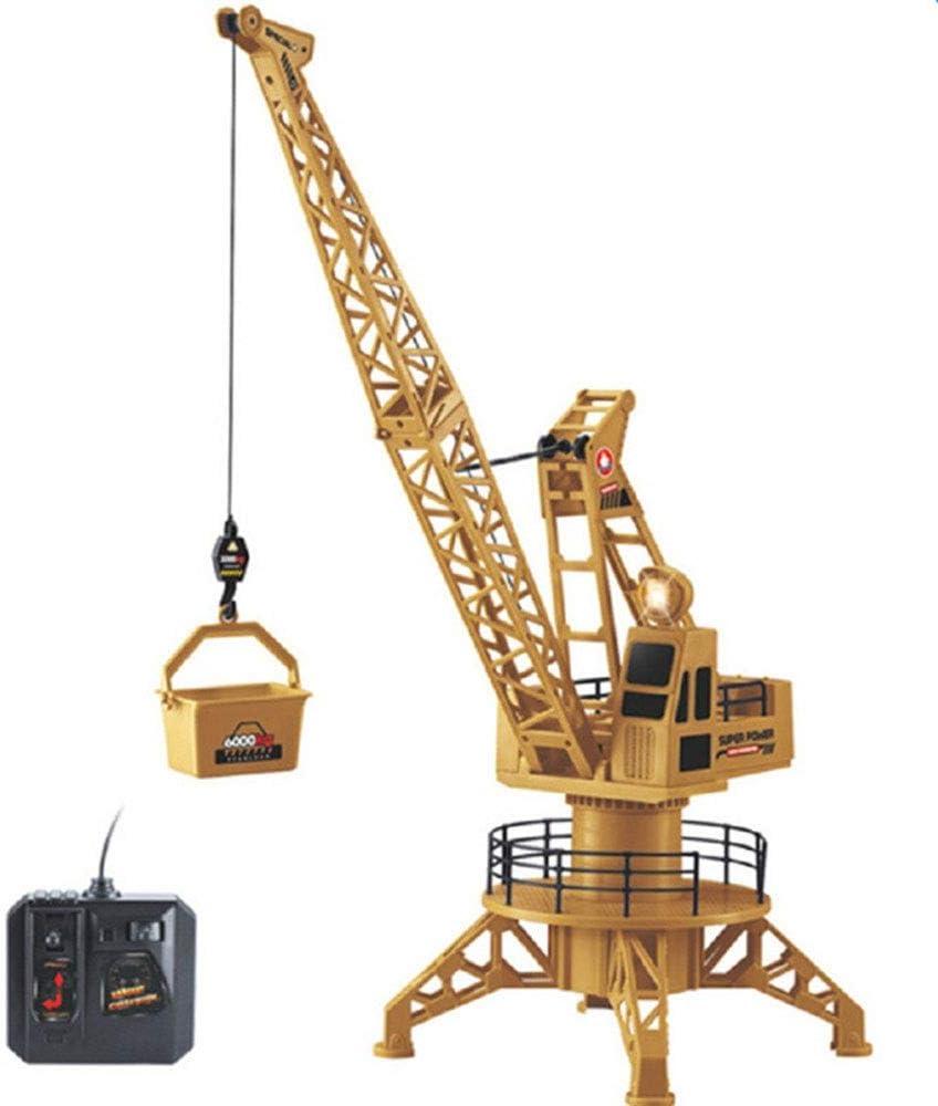 AIOJY Carga de grúa Sandy Land Excavadora Modelo Niño Control remoto Máquina de elevación Seguimiento de la construcción Vehículo Gancho de la máquina Máquina niveladora Inalámbrico Simulación eléctri