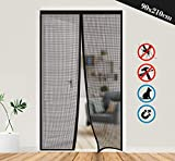 Magnetic Insect Screen Door, Anstore Reinforced Fiberglass Mosquito Door Screen Magic Mesh Curtain with Full...