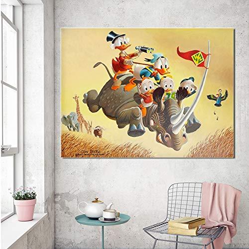 Puzzle 1000 Piezas Pintura clásica del Arte del cómic del Pato Puzzle 1000 Piezas paisajes Rompecabezas de Juguete de descompresión intelectual50x75cm(20x30inch)
