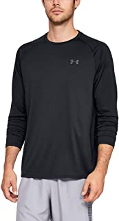 Under Armour Men's Tech 2.0 Long-Sleeve Sporty and Breathable Warm Up Top with Anti-Odour Technology, Quick-Drying Zip Up ...
