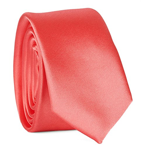 Cravate Corail Premium - Cravate Fine Homme Mariage et Cérémonie - Coupe Slim Moderne et Tendance