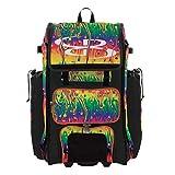 Boombah Rolling Catchers Superpack 2.0 Baseball/Softball Gear Bag - 23-1/2' x 13-1/2' x 9-1/2' - Lava Multi - Telescopic Handle - Holds 4 Bats - Wheeled Version