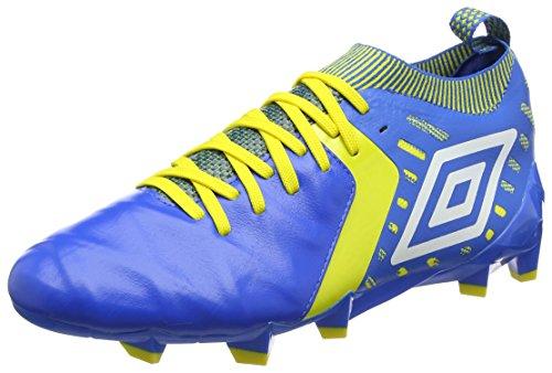 Umbro Medusæ II Elite HG, Botas de fútbol Hombre, Azul (Electric Blue/White/Blazing Yellow), 41 EU