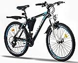 Corelli Dusk Mountainbike 26 Zoll oder 24 Zoll mit Aluminium-Rahmen, V-Brake, Shimano 21 Gang-Schaltung & einstellbare Gabelfederung als Herren-Fahrrad Damen, Jungen-Fahrrad Mädchen, Kinder-Fahrrad