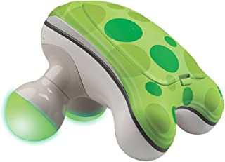 HoMedics Ribbit Handheld Mini Massager | Vibration Massage, Illuminated Feet, Battery Operated, Assorted Colors | Lightweight, Muscle Kneading for Back, Shoulders, Feet, Legs, & Neck