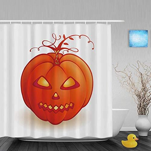 QAQ Starry Sky douchegordijn 180x200 grappige pompoen lantaarn decor badkamer welkom Halloween waterdichte polyester stof met haken
