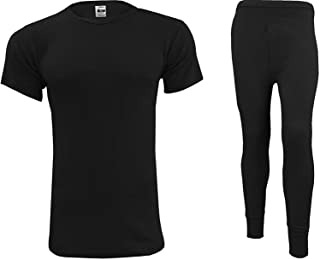 Men's Thermal Underwear Set Base Layer - Short Sleeve T-Shirt/Vest/Top and Long Johns For Men Ultra Soft Warm Underwear Ma...