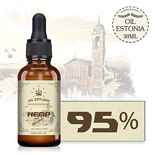 OIL ESTLAND Hemp Natural Oil, High Strength,Pure and Natural,Made in Estland (50000mg/30ML)