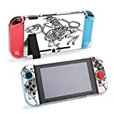 SUPNON Cowboy Skeleton Riding A Skeleton Horse Protective Case Compatible with Nintendo Switch Soft Slim Grip Cover Shell for Console & Joy-Con with Screen Protector, Thumb Grips Design22373