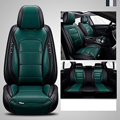 Ciroing Funda de Asiento para Nissan Qashqai Navara D22 Juke X-Trail Leaf Tiida Versa Murano Kicks Dualis Livina Np300 Accesorios Coche Seat,Verde Estándar