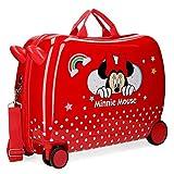 Valigia per bambini 2 ruote multidirezionali Minnie Rainbow