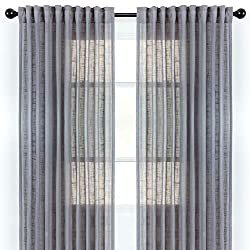 Textured Semi Sheer Curtains