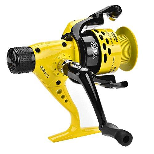 Ruota da Pesca con Mulinello Anticorrosione in Metallo Heavy Duty Leggera da Pesca con Mulinello da Spinning per Acqua Salata Dolce(4000)