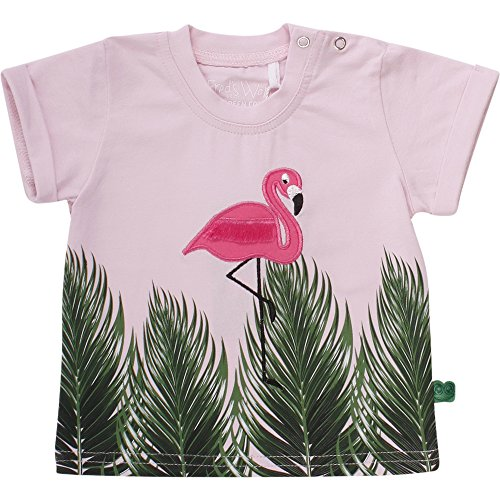 Fred'S World By Green Cotton Palm Baby T-Shirt, Rose (013340501), 12 Mois Bébé Fille